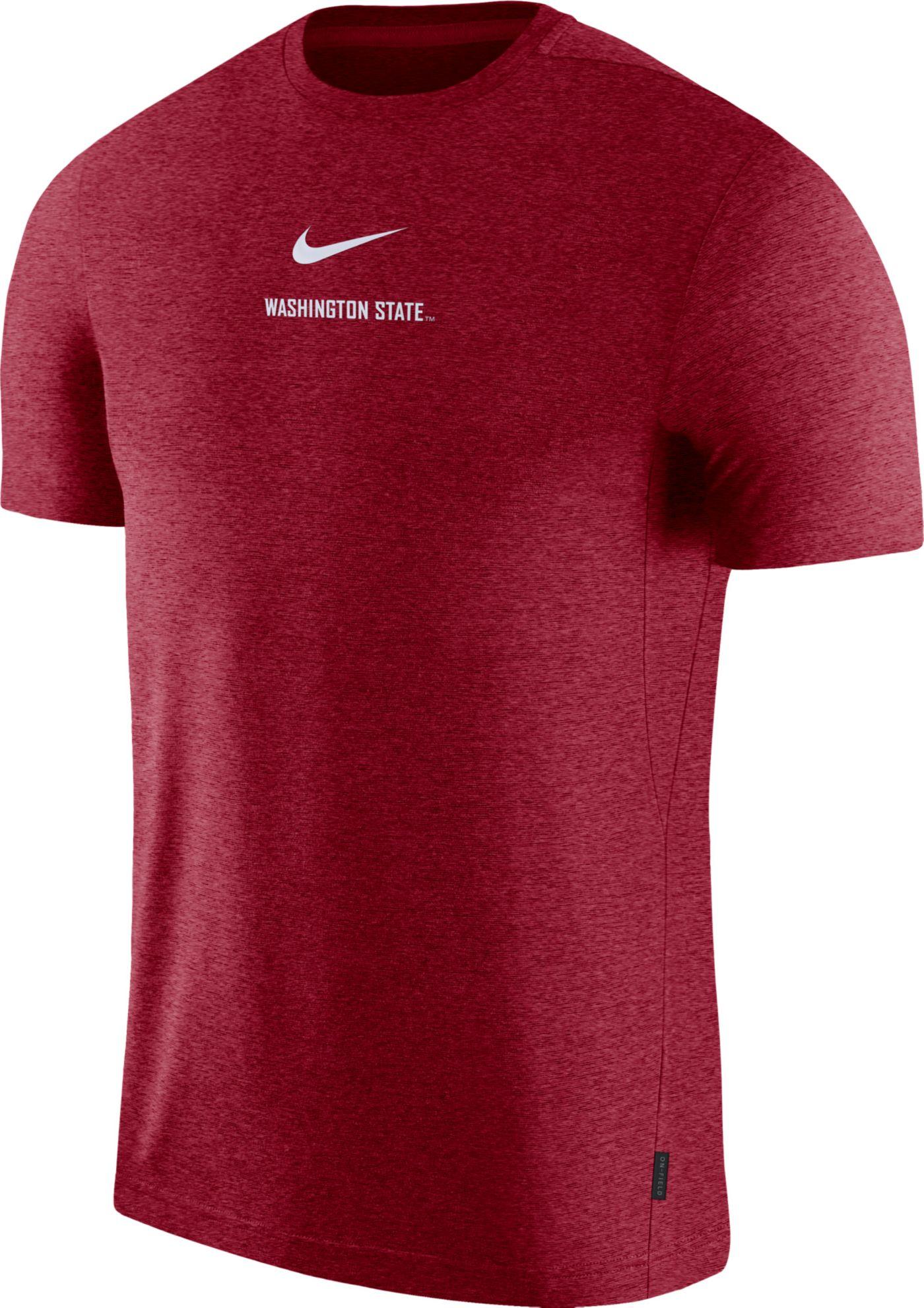Nike Men's Washington State Cougars Crimson Dri-FIT Coach UV Football T-Shirt
