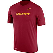 Nike Men's Iowa State Cyclones Cardinal Football Sideline Legend T-Shirt