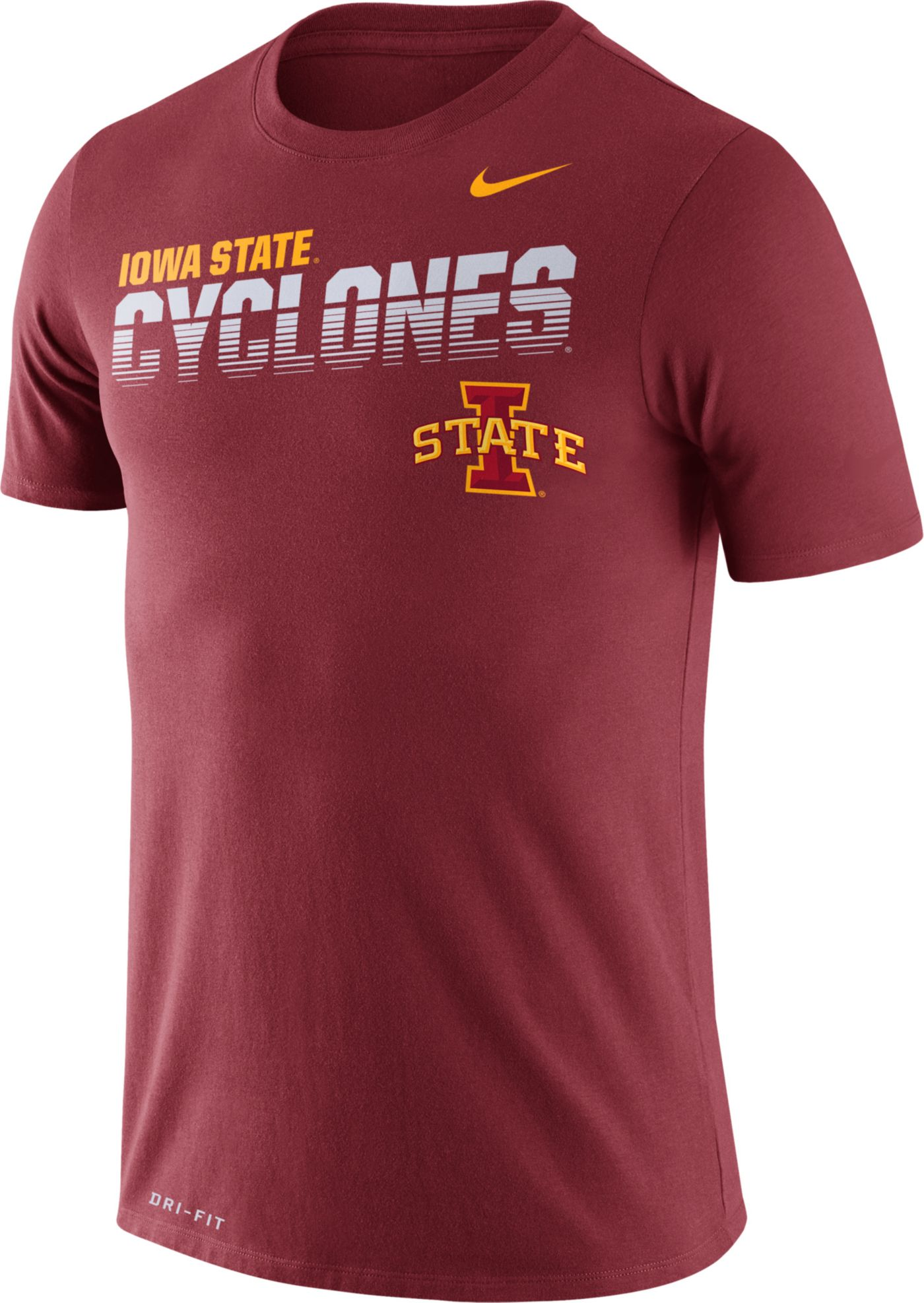 Nike Men's Iowa State Cyclones Cardinal Legend Football Sideline T-Shirt