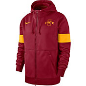 Nike Men's Iowa State Cyclones Cardinal Therma Football Sideline Full-Zip Hoodie
