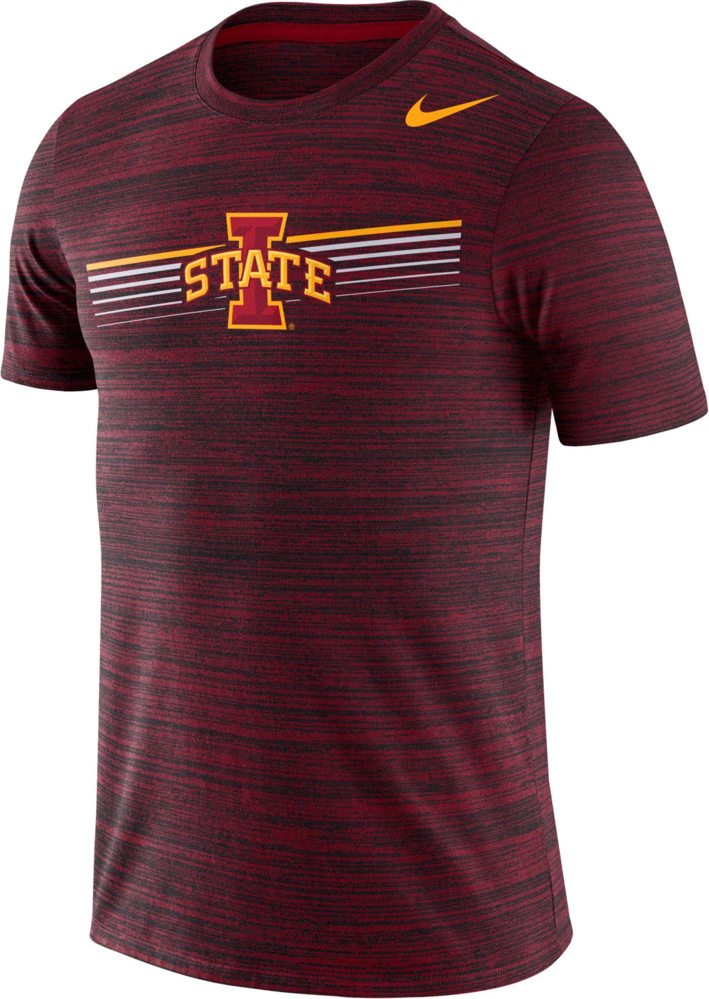 Nike Men's Iowa State Cyclones Cardinal Velocity Legend Graphic T-Shirt