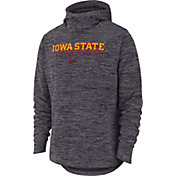 Nike Men's Iowa State Cyclones Grey Heathered Dri-FIT Spotlight Pullover Hoodie