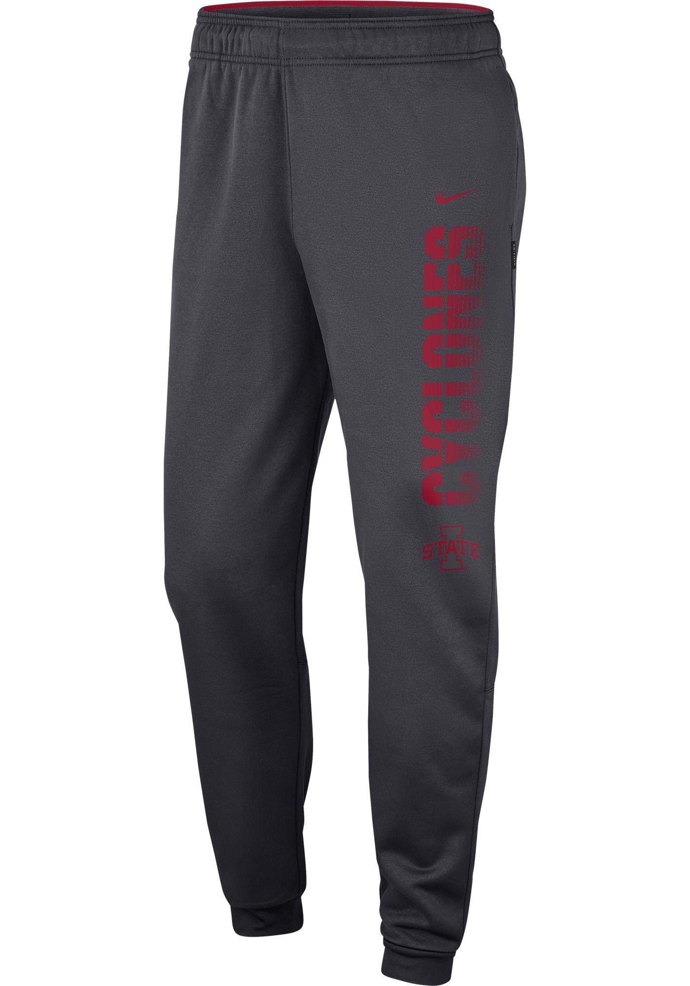 Nike Men's Iowa State Cyclones Grey Therma Tapered Pants