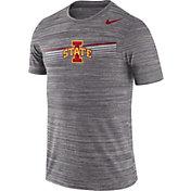 Nike Men's Iowa State Cyclones Grey Velocity Legend Graphic T-Shirt