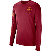 Nike Men's Iowa State Cyclones Cardinal Dri-FIT Elevated Basketball Long Sleeve Shirt