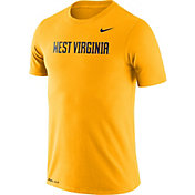 Nike Men's West Virginia Mountaineers Gold Dri-FIT Cotton Word T-Shirt
