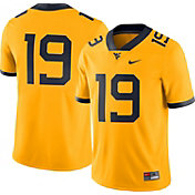 Nike Men's West Virginia Mountaineers #19 Gold Dri-FIT Game Football Jersey