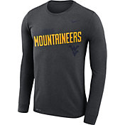 Nike Men's West Virginia Mountaineers Grey Legend Football Sideline Long Sleeve T-Shirt