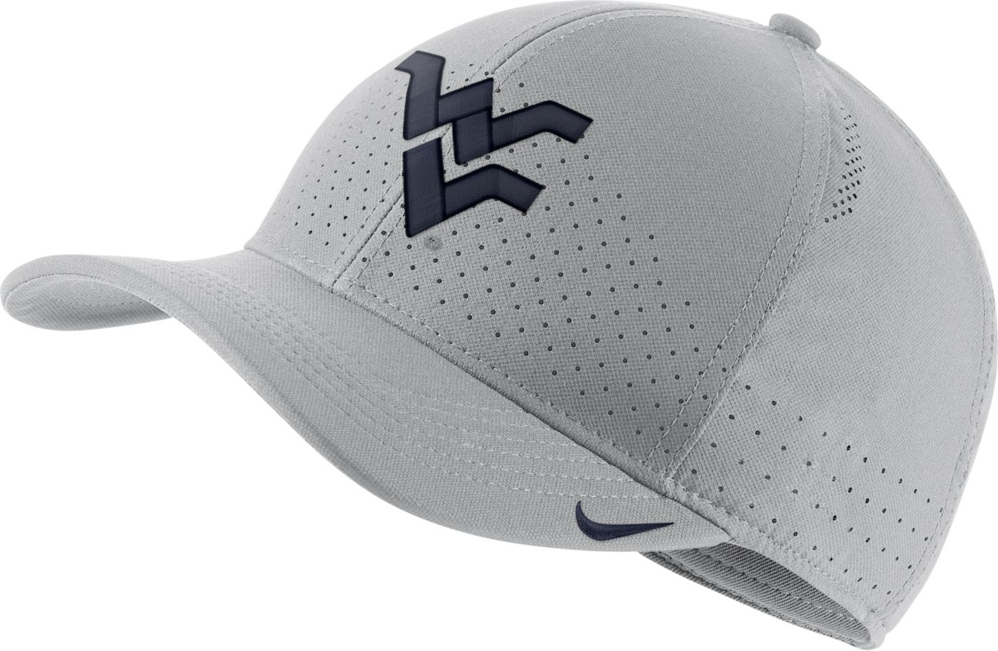Nike Men's West Virginia Mountaineers Grey Aerobill Classic99 Football Sideline Hat