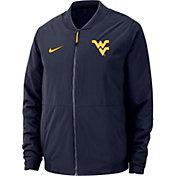 Nike Men's West Virginia Mountaineers Blue Bomber Full-Zip Jacket