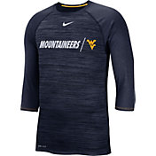 Nike Men's West Virginia Mountaineers Blue Dry Legend 3/4 Sleeve T-Shirt