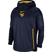 Nike Men's West Virginia Mountaineers Blue Pullover Fly Rush Jacket