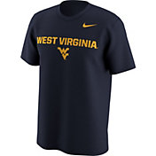Nike Men's West Virginia Mountaineers Blue Lockup T-Shirt