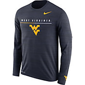 Nike Men's West Virginia Mountaineers Blue Velocity Legend Graphic Long Sleeve T-Shirt