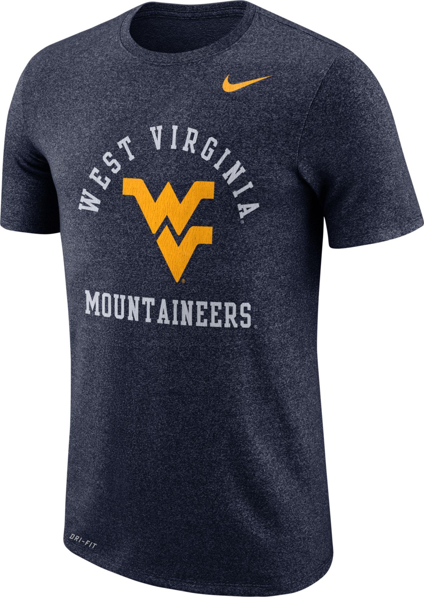 Nike Men's West Virginia Mountaineers Blue Marled Raglan T-Shirt