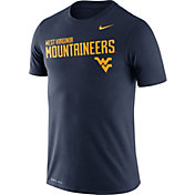 Nike Men's West Virginia Mountaineers Blue Legend Football Sideline T-Shirt