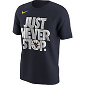 Nike Men's West Virginia Mountaineers Blue 'Just Never Stop' Selection T-Shirt