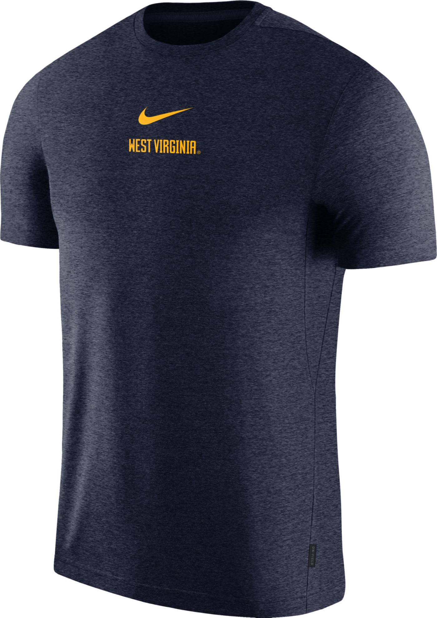 Nike Men's West Virginia Mountaineers Blue Dri-FIT Coach UV Football T-Shirt