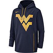 Nike Men's West Virginia Mountaineers Blue Therma-FIT Pullover Hoodie