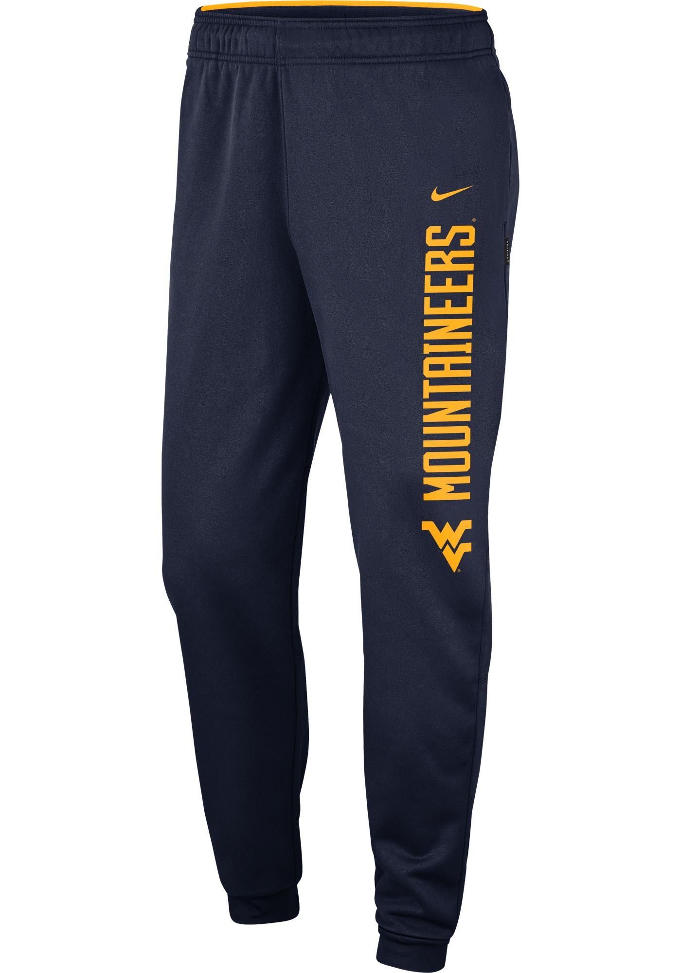 Nike Men's West Virginia Mountaineers Blue Therma Tapered Pants