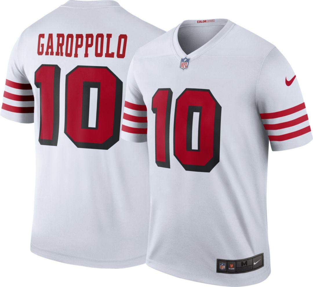 reputable site 70e52 e4488 Nike Men's Color Rush Legend Jersey San Francisco 49ers Jimmy Garoppolo #10