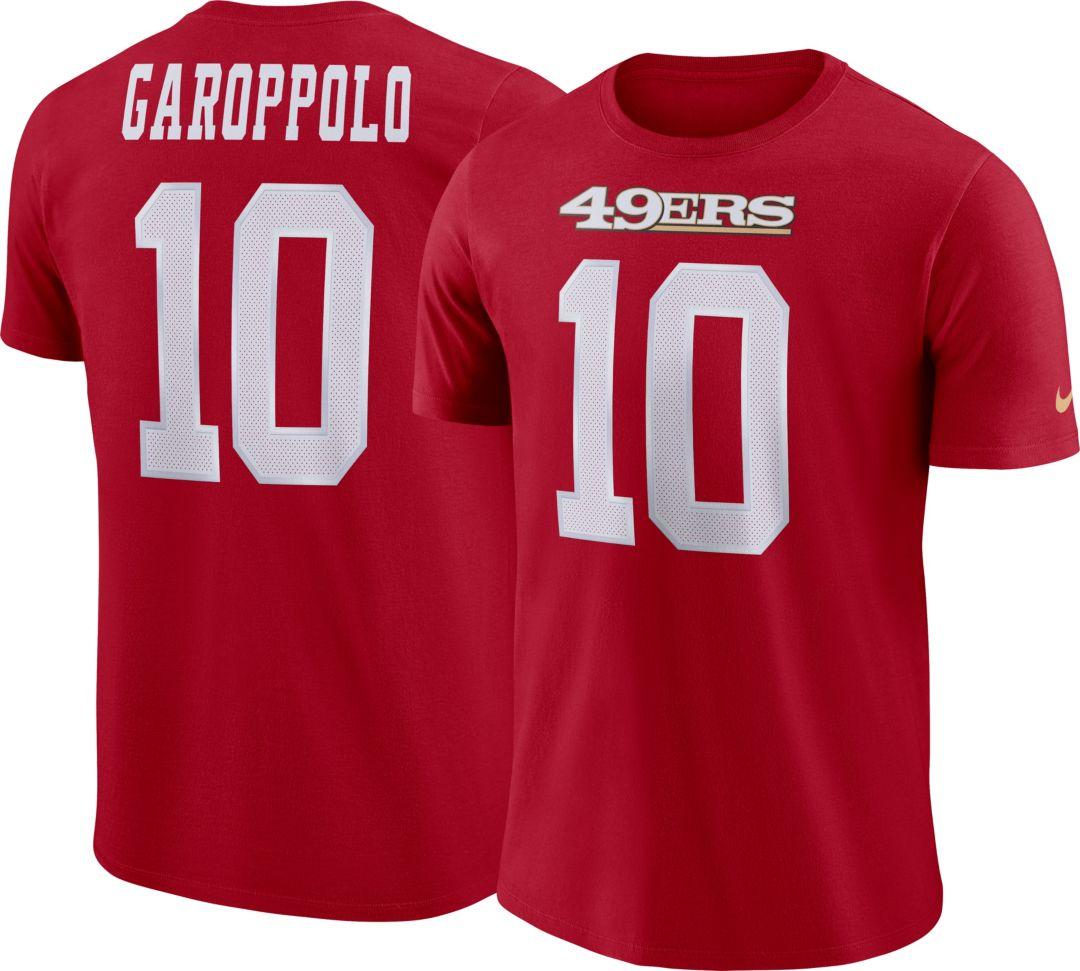 wholesale dealer a1117 ffa9e Nike Men's San Francisco 49ers Jimmy Garoppolo #10 Pride Red T-Shirt