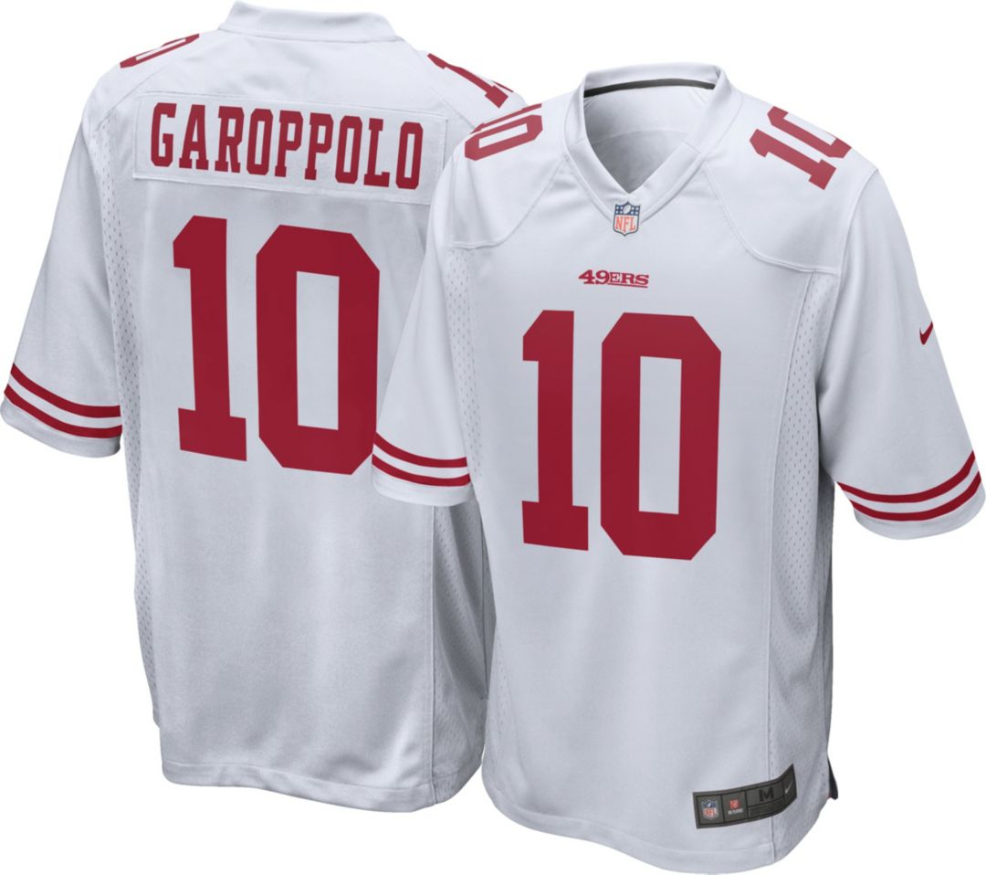 low priced dc050 29fe4 Nike Men's Away Game Jersey San Francisco 49ers Jimmy Garoppolo #10