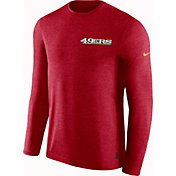 Nike Men's San Francisco 49ers Sideline Coach Performance Red Long Sleeve Shirt