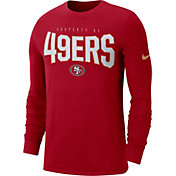 Nike Men's San Francisco 49ers Sideline Property Of Long Sleeve Red Shirt