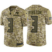 Nike Men's Salute to Service Tampa Bay Buccaneers Jameis Winston #3 Camouflage Limited Jersey