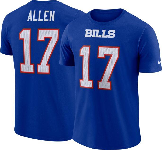 more photos d0b05 b7090 Nike Men's Buffalo Bills Josh Allen #17 Pride Royal T-Shirt