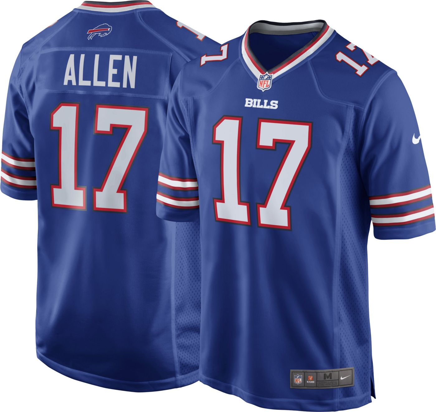 Josh Allen #17 Nike Men's Buffalo Bills Home Game Jersey