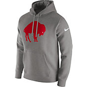 Nike Men's Buffalo Bills Historic Logo Club Grey Hoodie