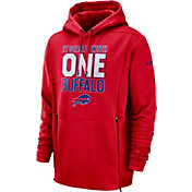 Nike Men's Buffalo Bills Sideline Therma-FIT Local Red Performance Hoodie