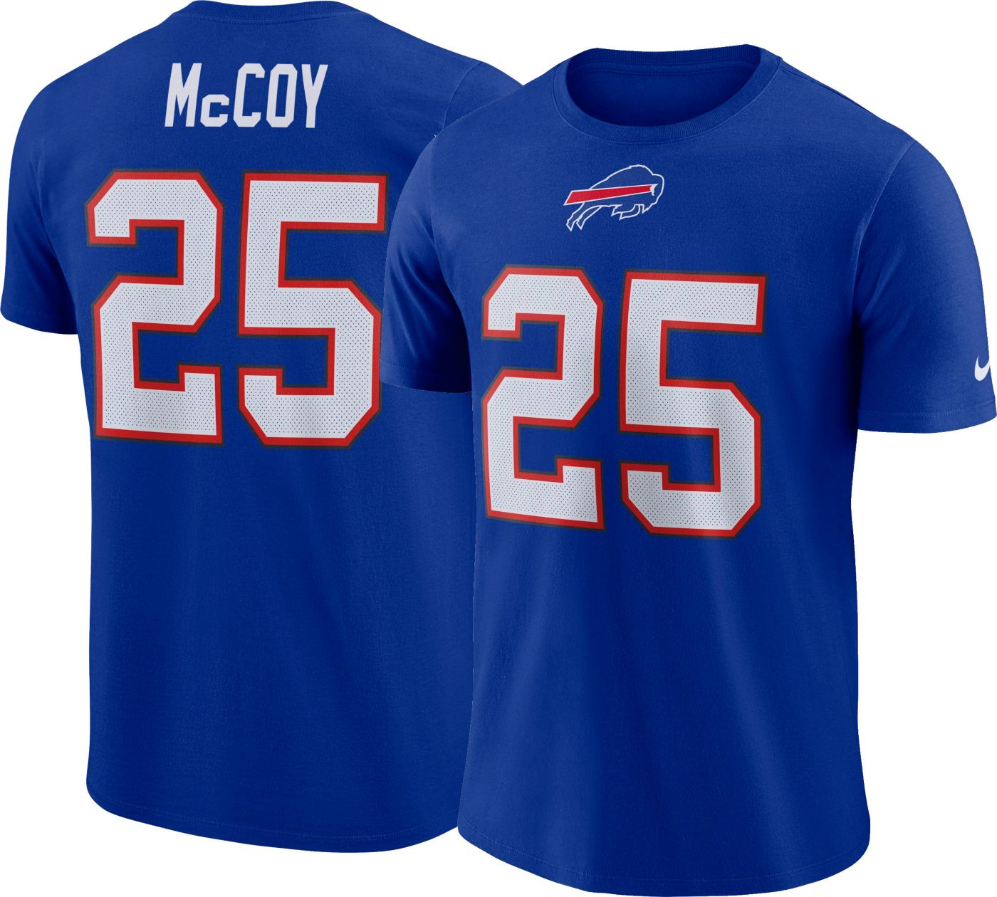 LeSean McCoy #25 Nike Men's Buffalo Bills Pride Royal T-Shirt