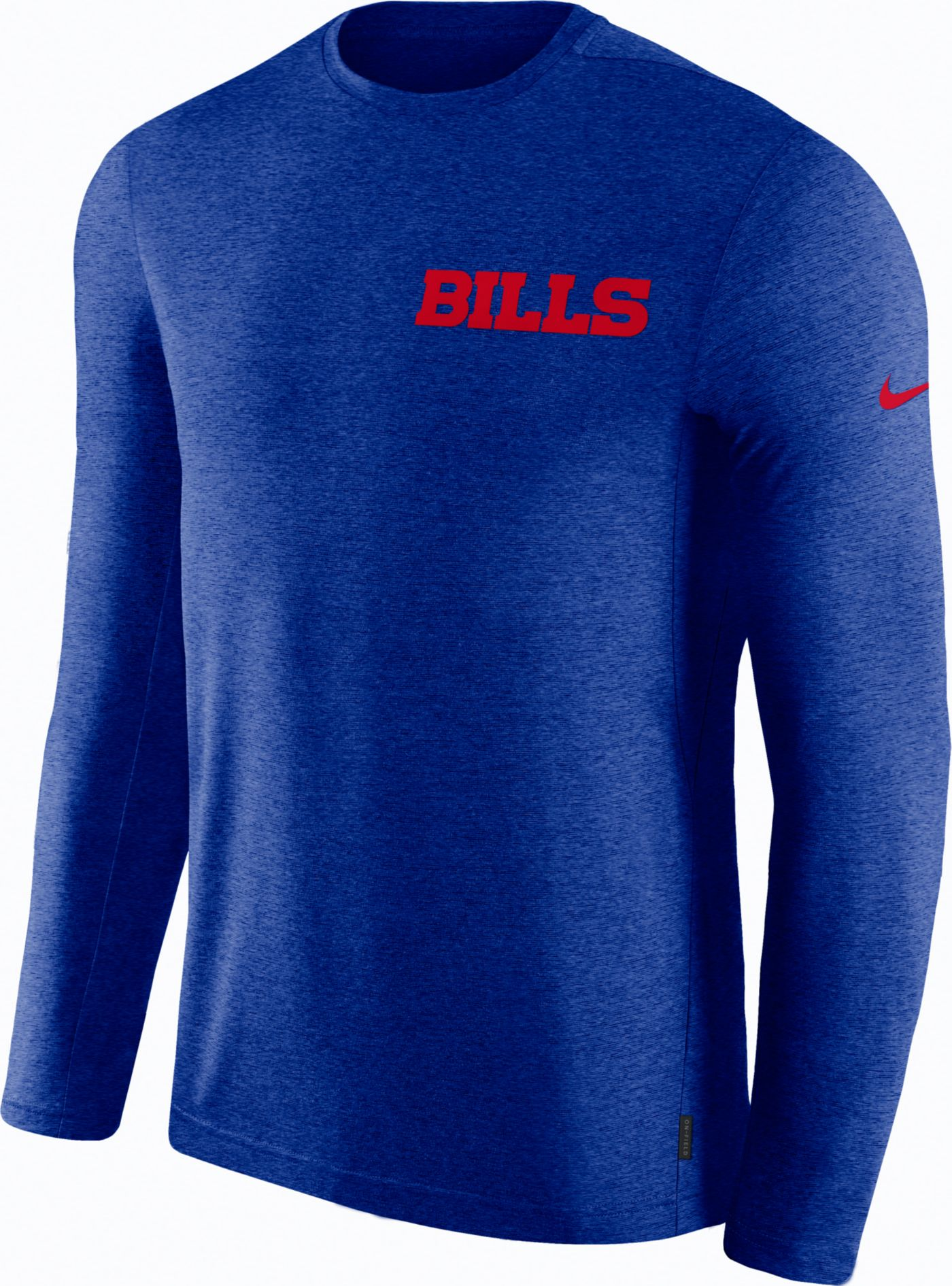 Nike Men's Buffalo Bills Sideline Coach Performance Royal Long Sleeve Shirt