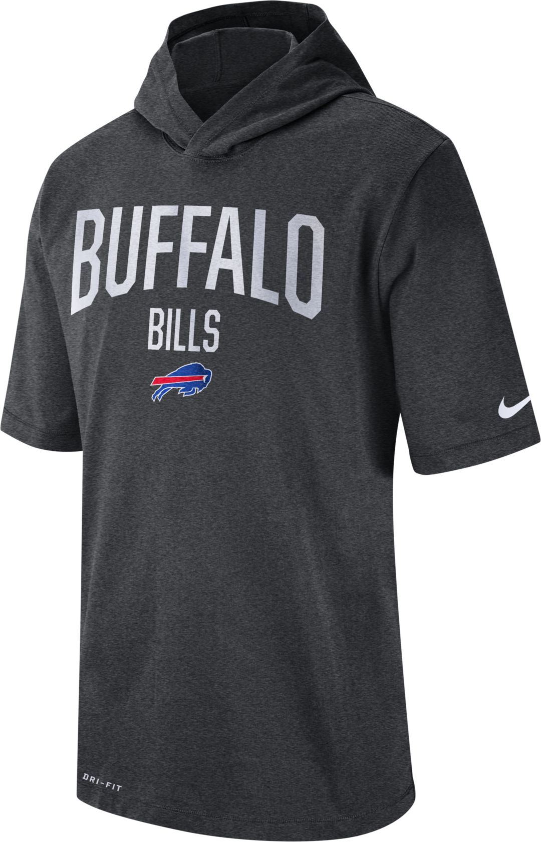 half off 108aa 333a9 Nike Men's Buffalo Bills Sideline Charcoal Short-Sleeve ...
