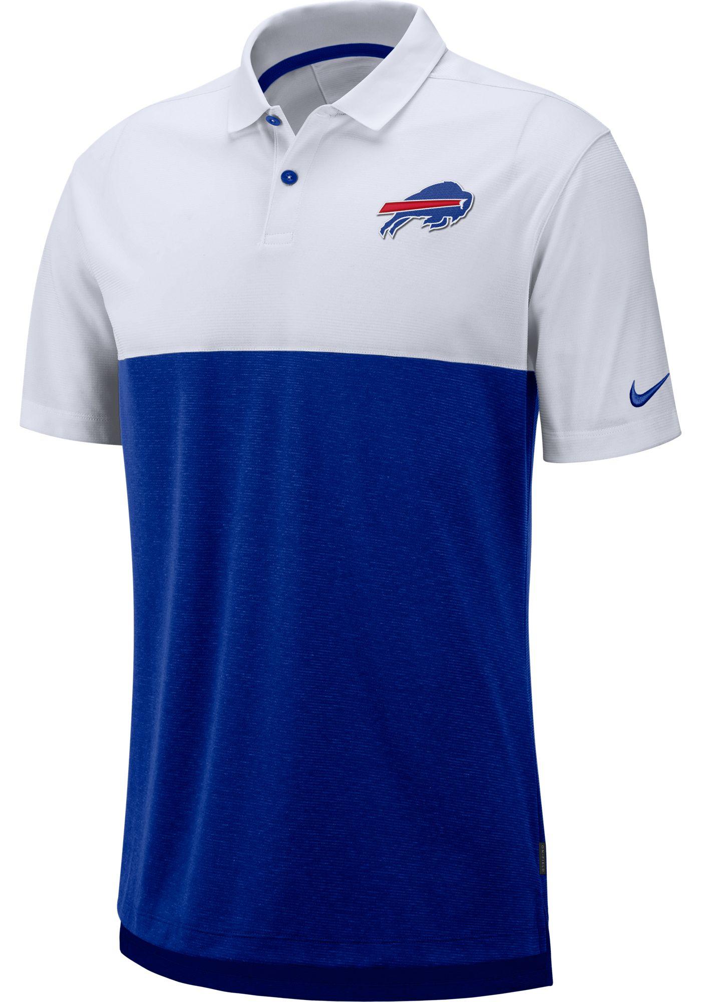 Nike Men's Buffalo Bills Sideline Early Season White Polo