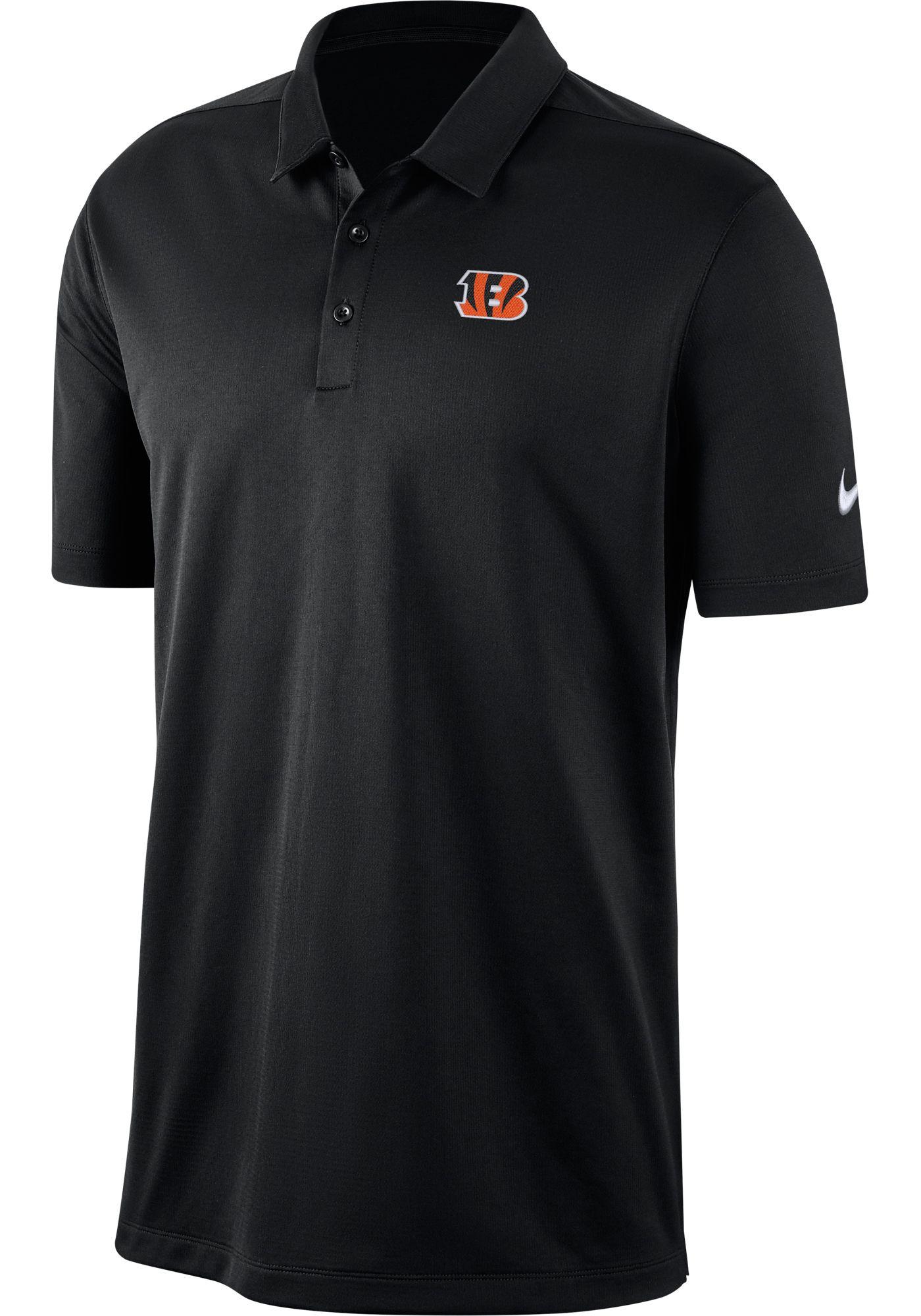 Nike Men's Cincinnati Bengals Franchise Black Polo