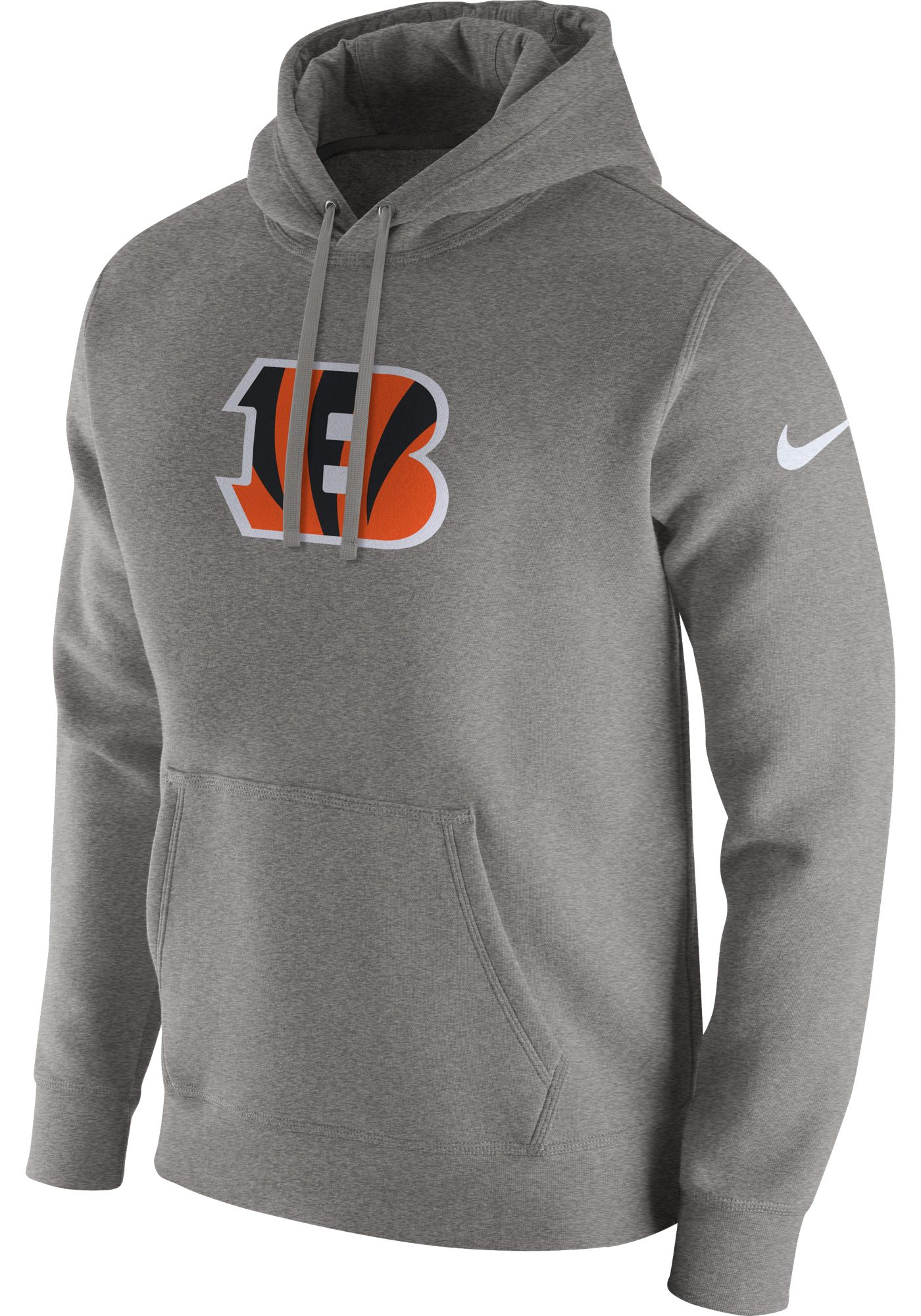 Nike Men's Cincinnati Bengals Logo Club Grey Hoodie