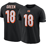 Nike Men's Cincinnati Bengals A.J. Green #18 Logo Black T-Shirt