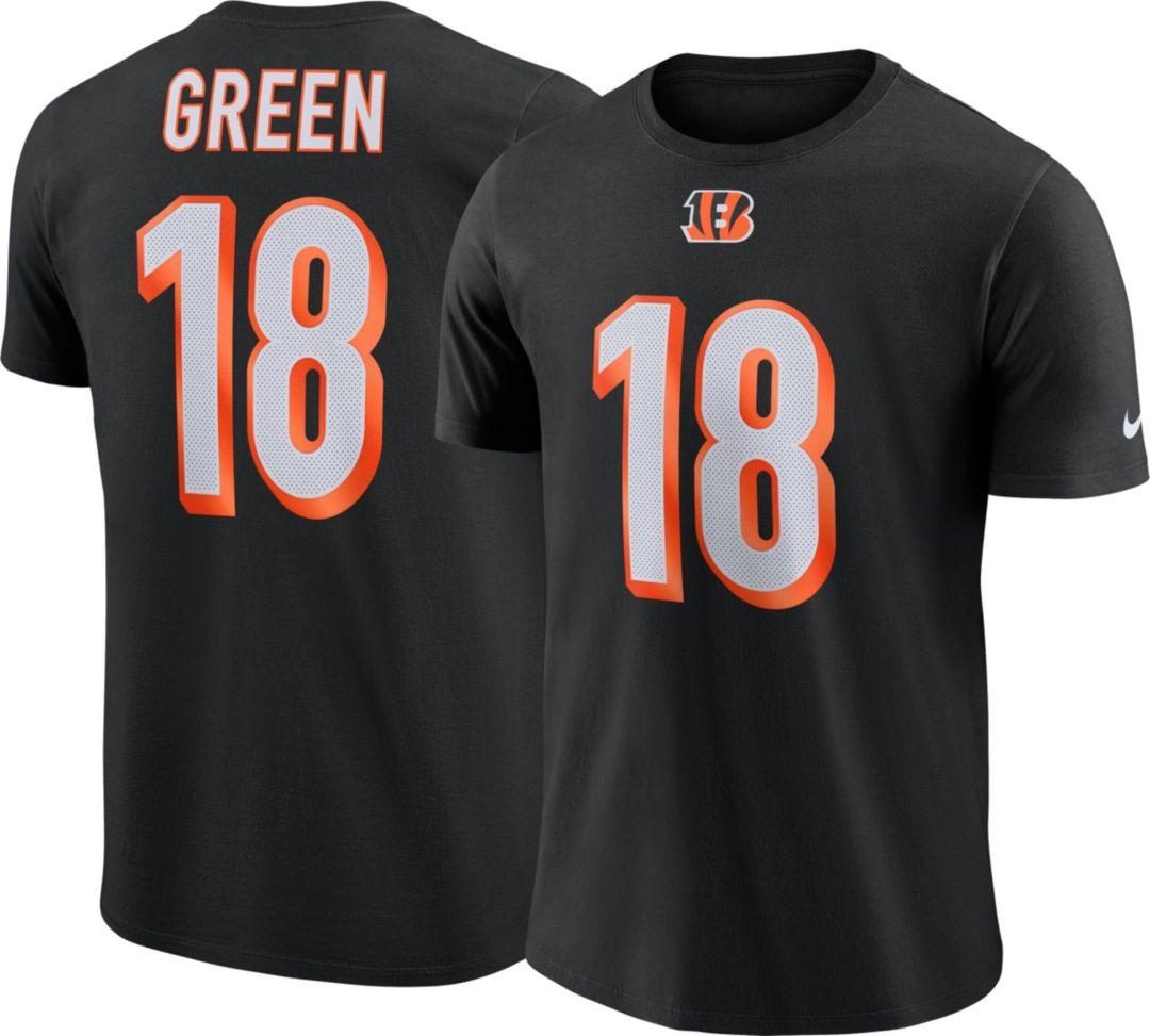 78bf49dcd Nike Men's Cincinnati Bengals A.J. Green #18 Logo Black T-Shirt ...