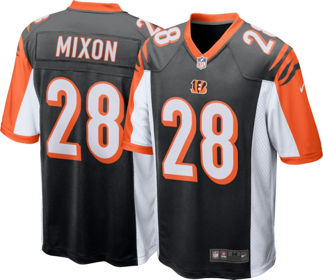 low priced bbe32 573be Nike Men's Home Game Jersey Cincinnati Bengals Joe Mixon #28