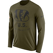 Nike Men's Salute to Service Cincinnati Bengals Legend Performance Long Sleeve Shirt