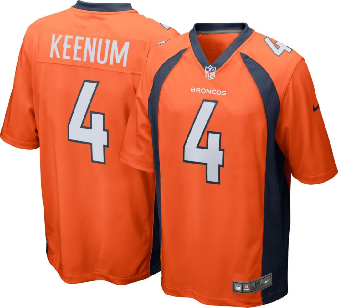 b51f3aa215a Nike Men's Home Game Jersey Denver Broncos Case Keenum #4 | DICK'S ...