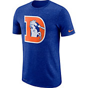 Nike Men's Denver Broncos Marled Historic Performance Royal T-Shirt
