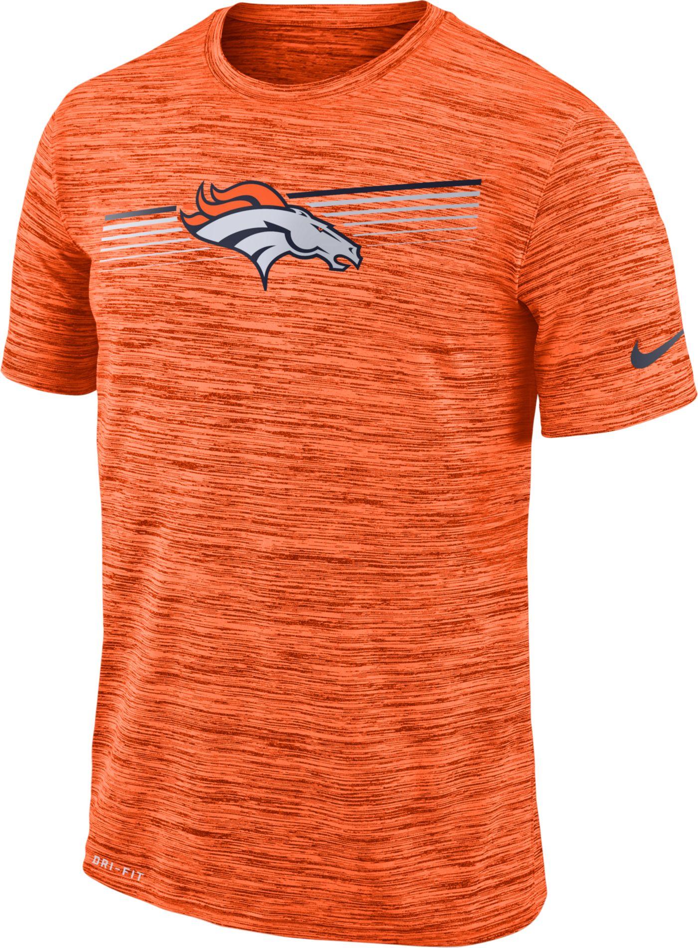 Nike Men's Denver Broncos Sideline Legend Velocity Orange T-Shirt