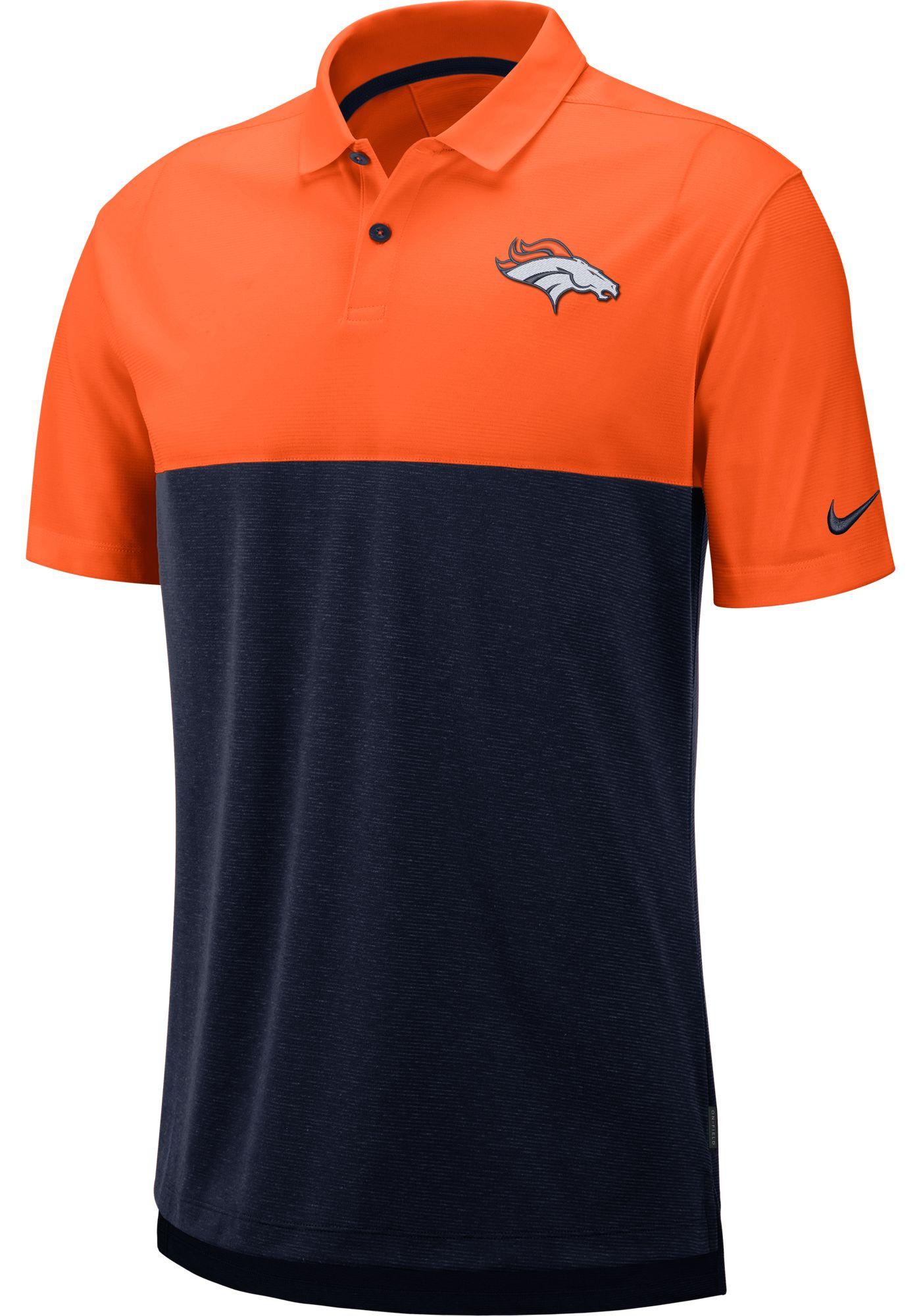 Nike Men's Denver Broncos Sideline Early Season Orange Polo