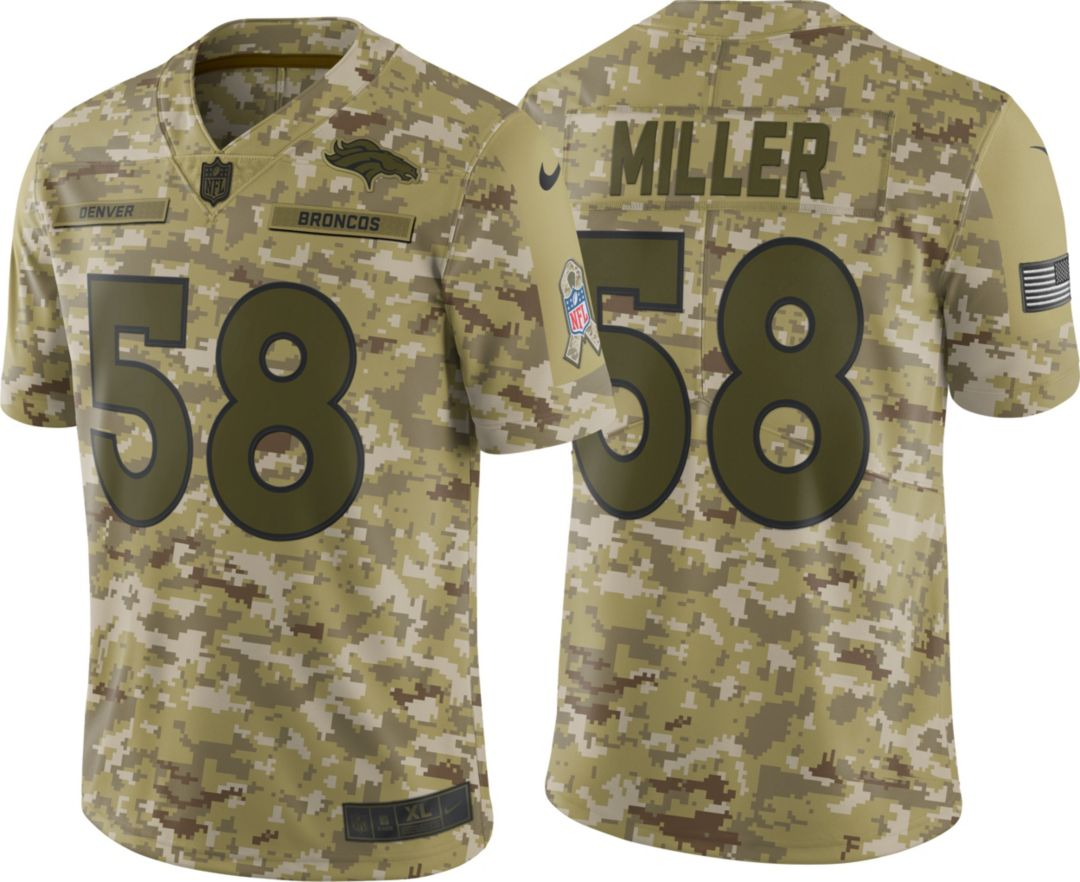 1e3a9d22 Nike Men's Salute to Service Denver Broncos Von Miller #58 Limited Jersey