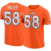 Nike Men's Denver Broncos Von Miller #58 Pride Logo Orange T-Shirt